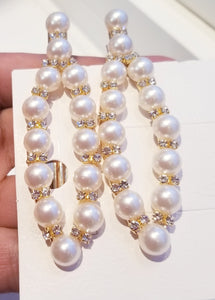 Rhinestone and Pearl Hair Clips