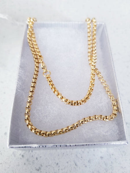 24k Gold Plated Thick Chain Necklace