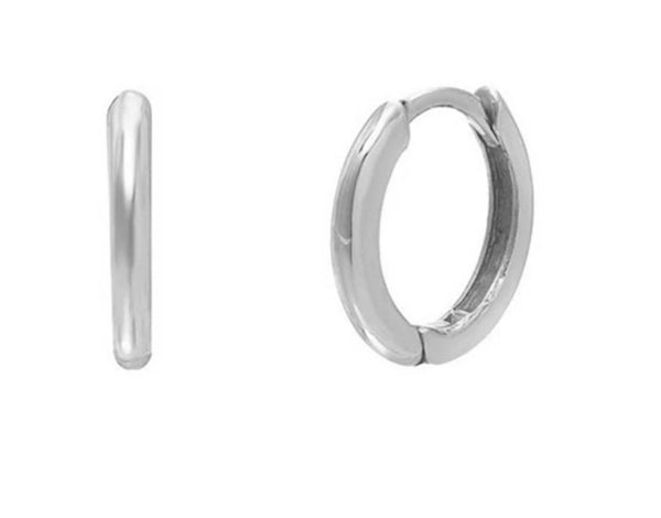 Sterling Silver Huggie Hoop Earrings