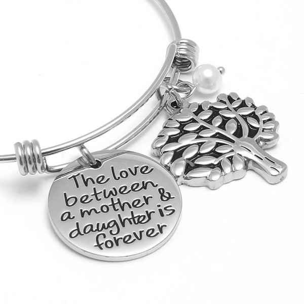 The love between Mother and Daughter is Forever -Mom Bracelet