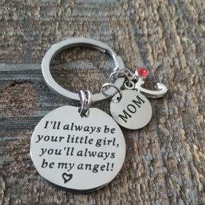 Always Be Your Little Girl Personalized Mom Keychain