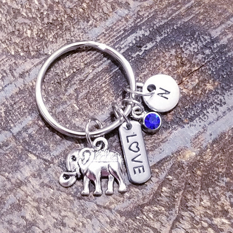 Personalized Lucky Elephant Keychain