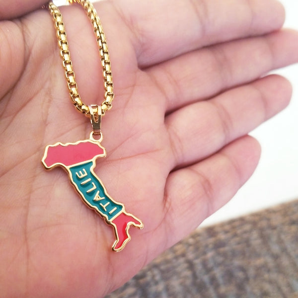 Italy Map Necklace