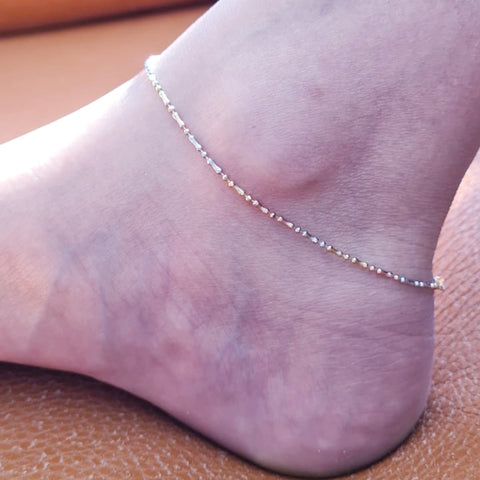 Tricolour Simple Anklet HNS Studio Canada