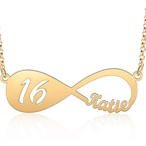 Infinity Name Necklace with Year HNS Studio Canada