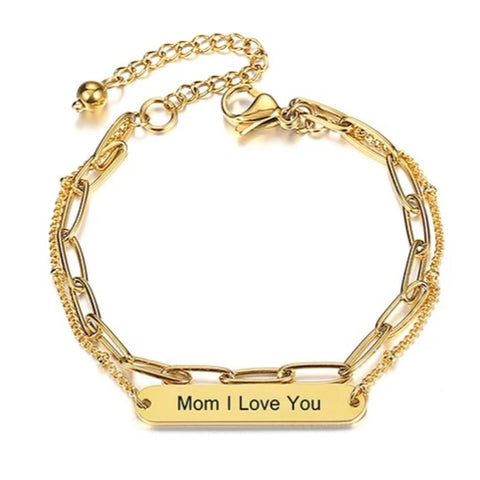Mom I Love You Bracelet HNS Studio Canada