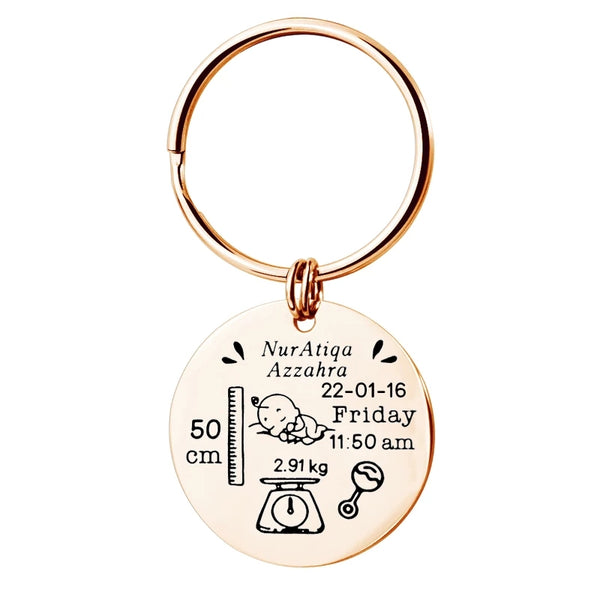 Baby Announcement Keychain
