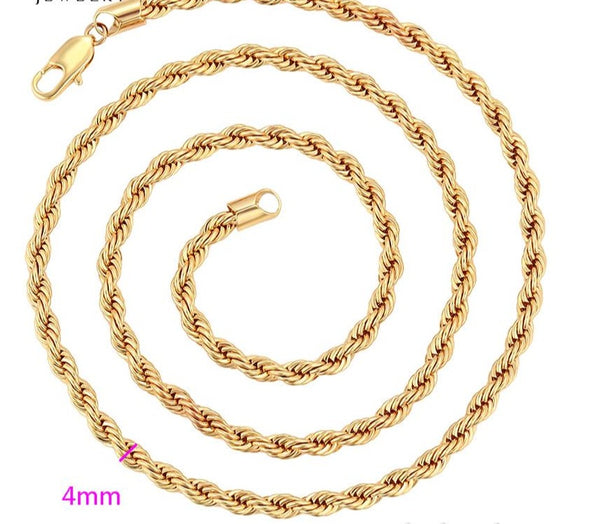 Men Rope Chain Necklace