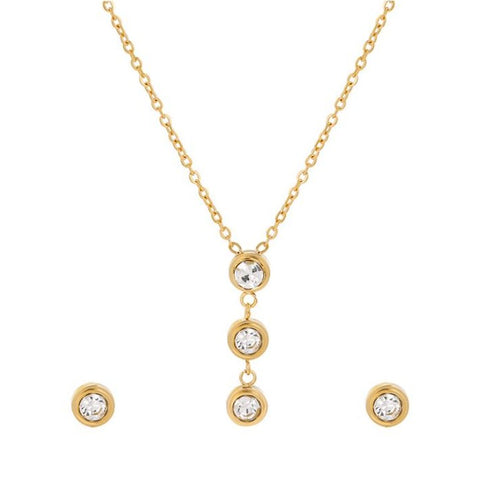Gold filled necklace and earrings set