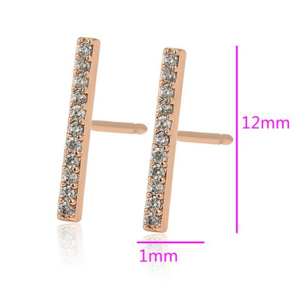 CZ Bar Stud earrings