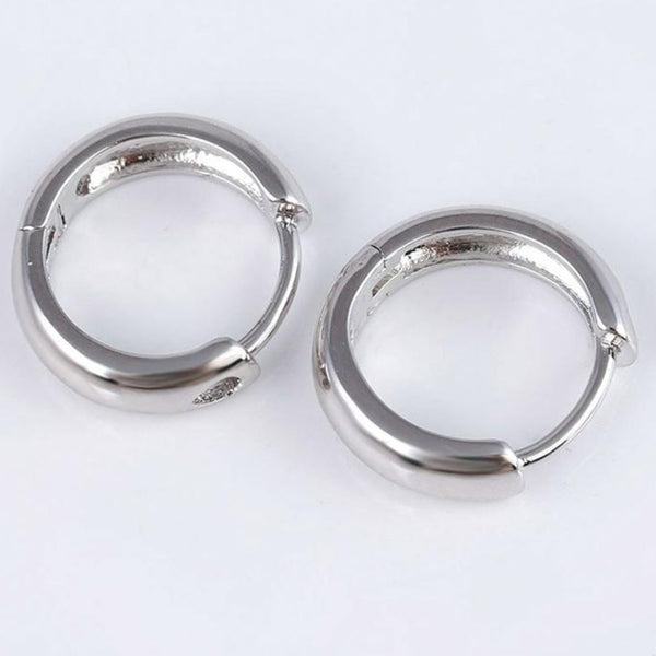 Silver Chunky Hoop Earrings  HNS Studio Canada