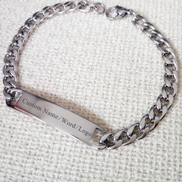 Personalized Stainless steel Men's Bracelet - HNS Studio