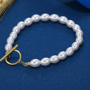 Freshwater Pearl Bracelet with Gold Filled Clasp