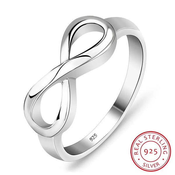 Sterling Silver 925 Infinity Ring - HNS Studio