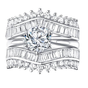 2 Carat Halo Wedding Ring
