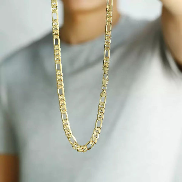 Flat Figaro Chain Necklace