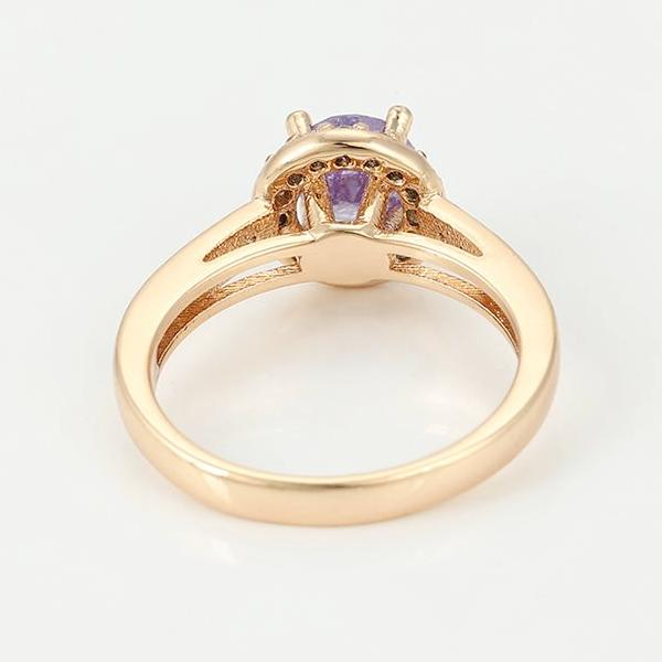 18K Gold plated Amethyst Ring - HNS Studio