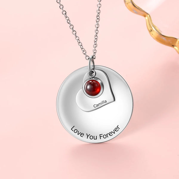 Name necklace Birthstone