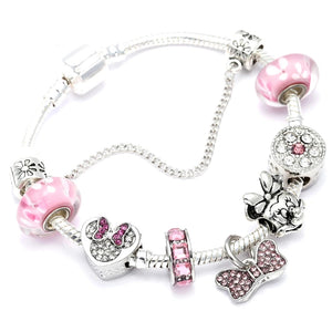 Mickey Mouse Butterfly Charms Bracelet for Girls - HNS Studio