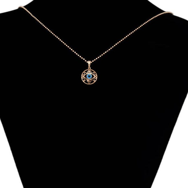 Rose Gold Evil Eye Necklace HNS Studio Canada