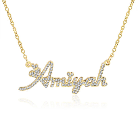 Ice out name necklace