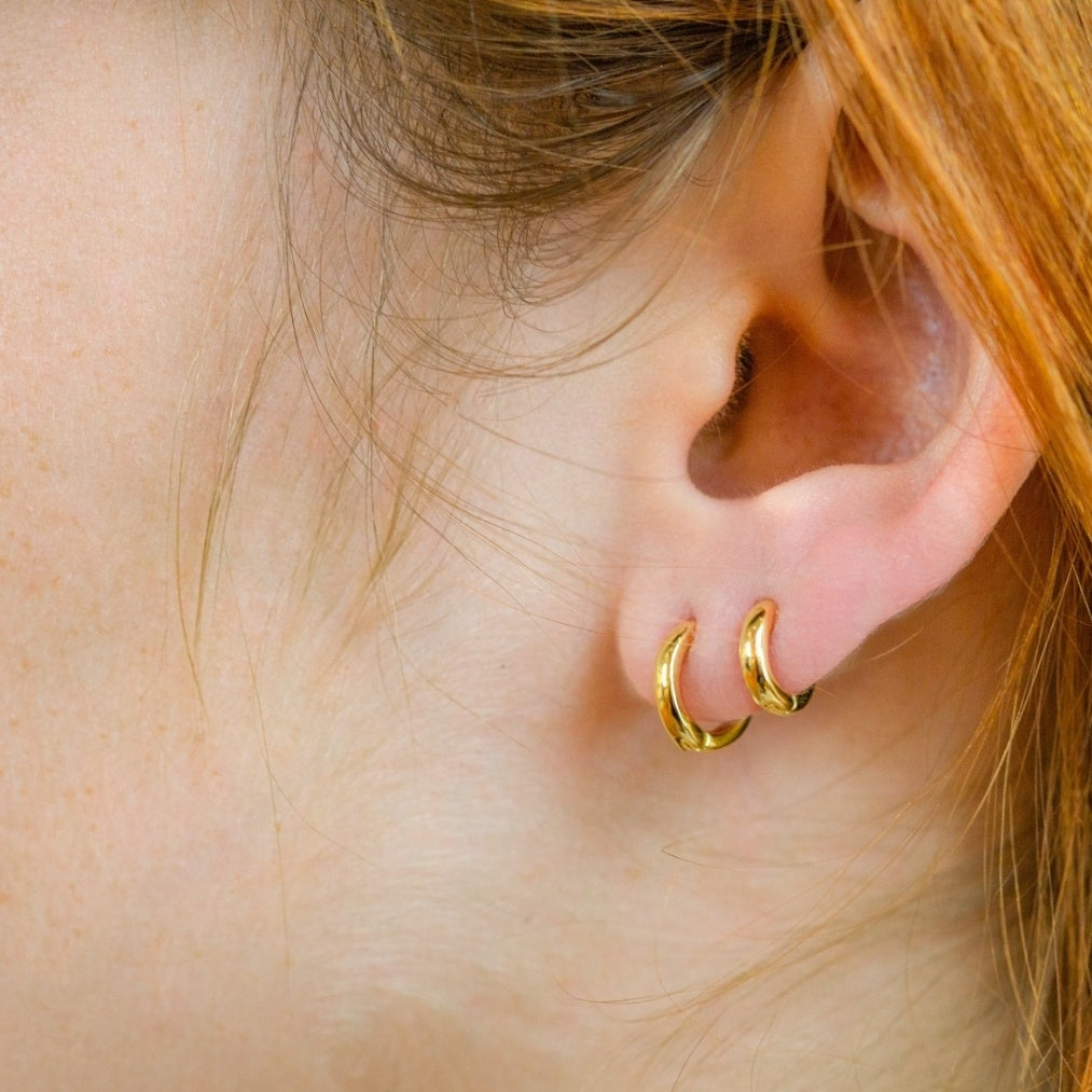 Small Hoop Earrings 18k Gold plated