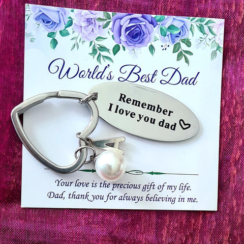 Remember I love you Dad Personalized Keychain