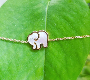 Rose Gold Elephant Charm Bracelet