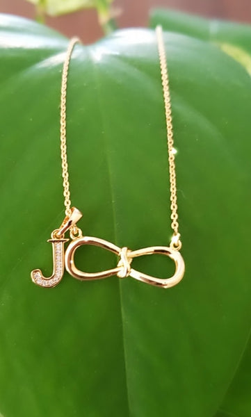 Personalized Infinity Necklace with Initial
