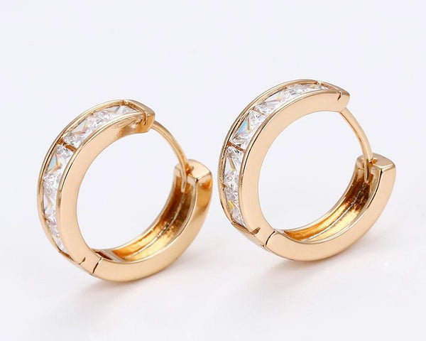 18k Gold Plated Small Hoop Earrings - HNS Studio