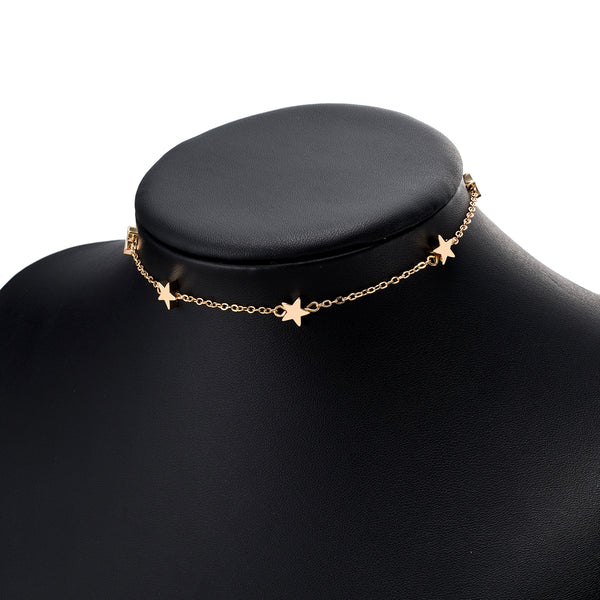 Star Chain Clavicle Statement Necklace Choker - HNS Studio