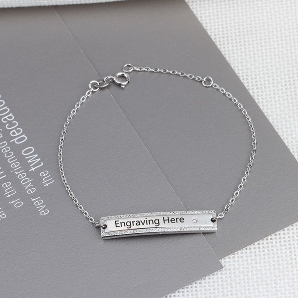 Personalized Sterling Silver Bracelet for Women - HNS Studio