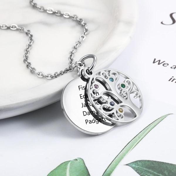 Filigree Family Tree Name Necklace - HNS Studio
