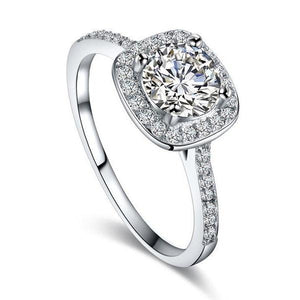 Luxurious Ring in White Gold Cubic Zirconia - HNS Studio