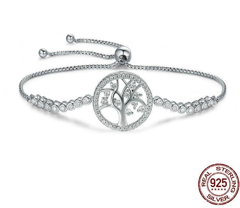 Tree of Life Sterling Silver Tennis Bracelet - HNS Studio