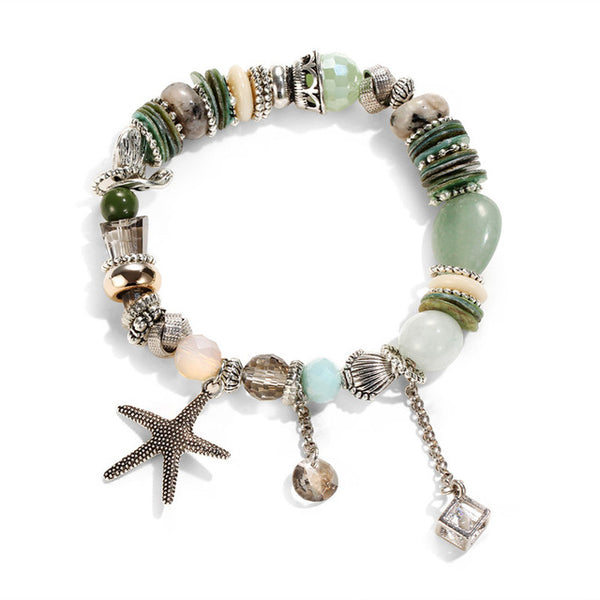 Sea Starfish Beaded Stretchable Bracelet - HNS Studio
