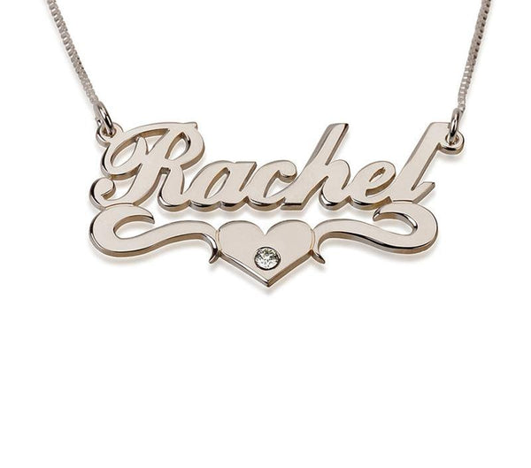 Personalized Name Necklace with Birthstone - HNS Studio