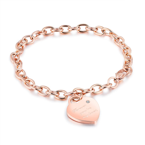 """Forever, you're my lover"" Adjustable Rose Gold Bracelet - HNS Studio"