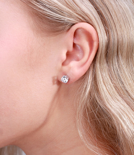 Sterling Silver Birthstone Stud Earrings and Necklace Set