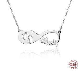 My Footsteps Infinity Name Necklace