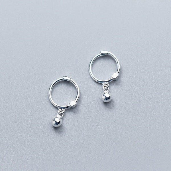 Solid Sterling Silver Small Dangle earrings - HNS Studio