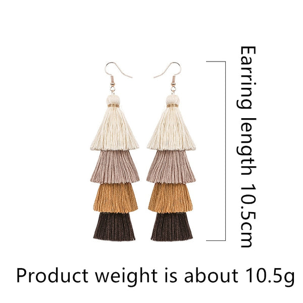 Dangle Tassel Earrings - HNS Studio