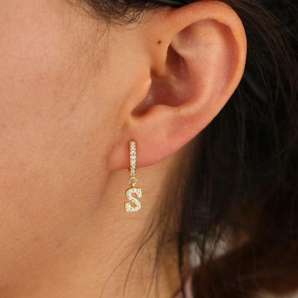 Initial Drop Earrings (1PC) - HNS Studio