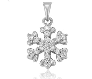 Silver Snowflake Pendant Necklace - HNS Studio
