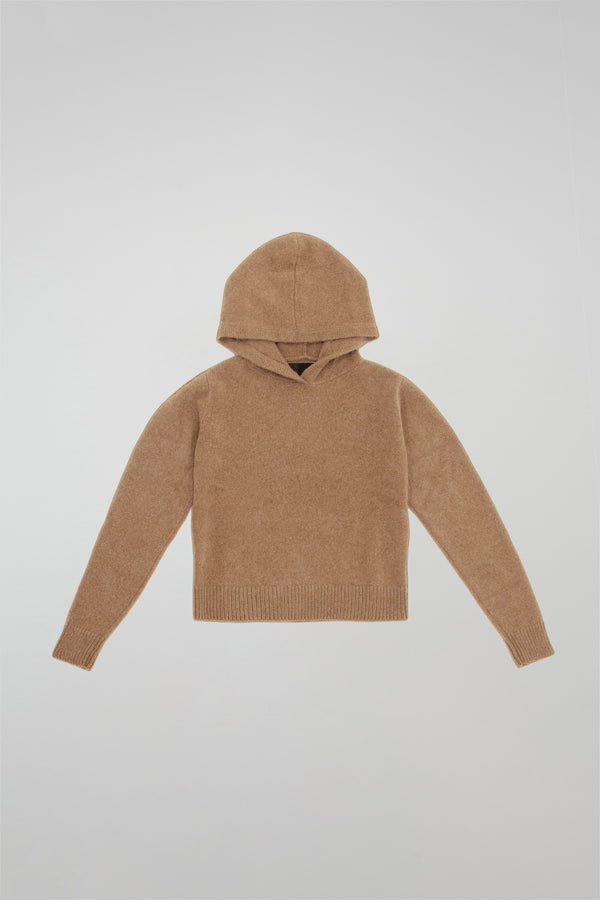 Heavy Cropped Pullover Hoodie