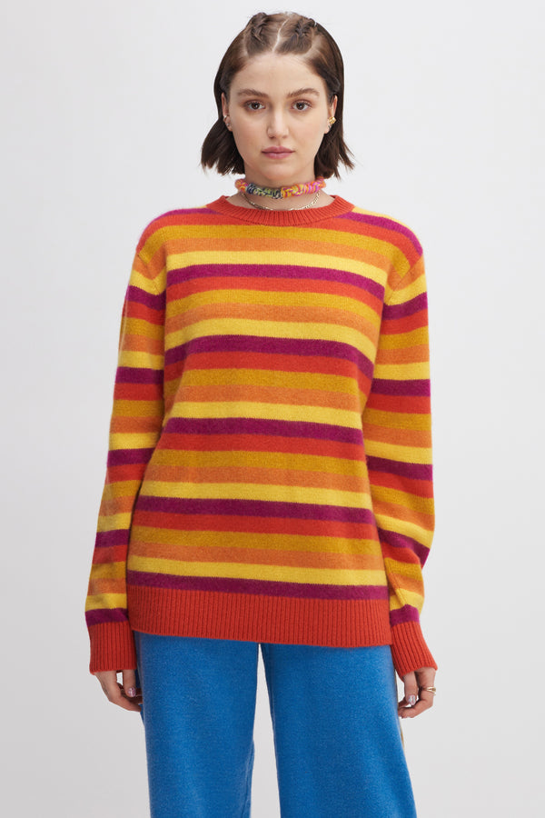 Women's Inch Stripe crew