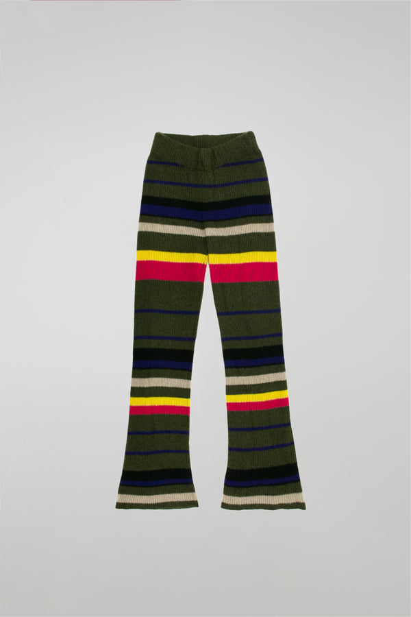 Pomona Stripe Ribbed Flared Pants