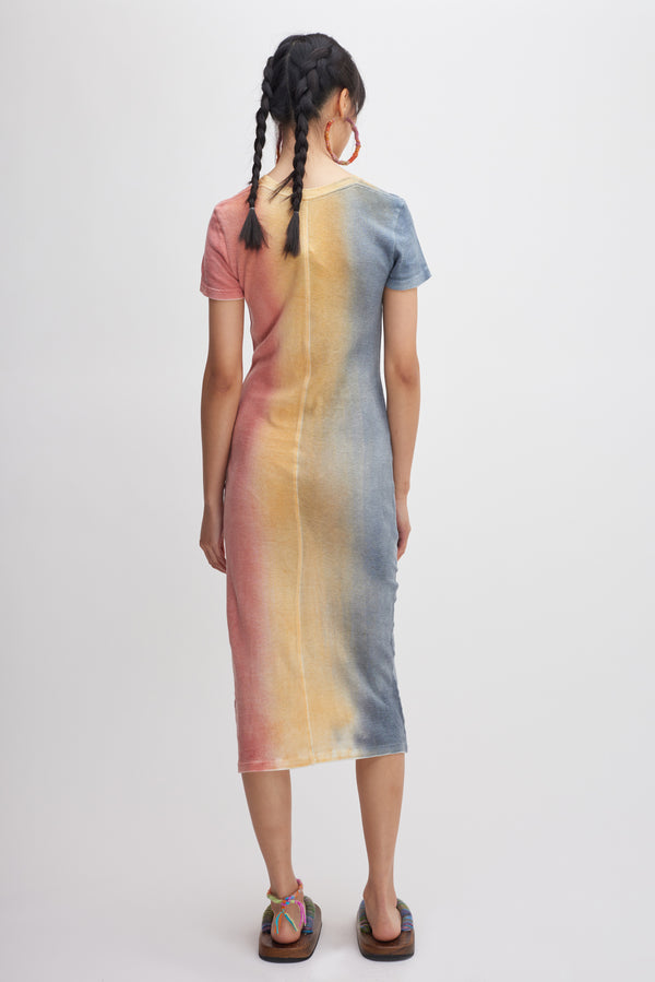 Gradient Cotton Cash Maxi Dress
