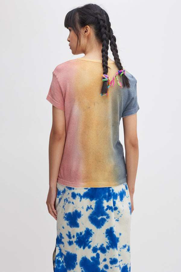 Gradient Cotton Cash Girls Tee