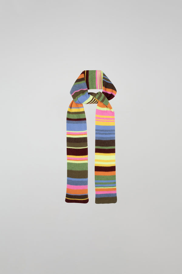Stripe Skinny Long Scarf